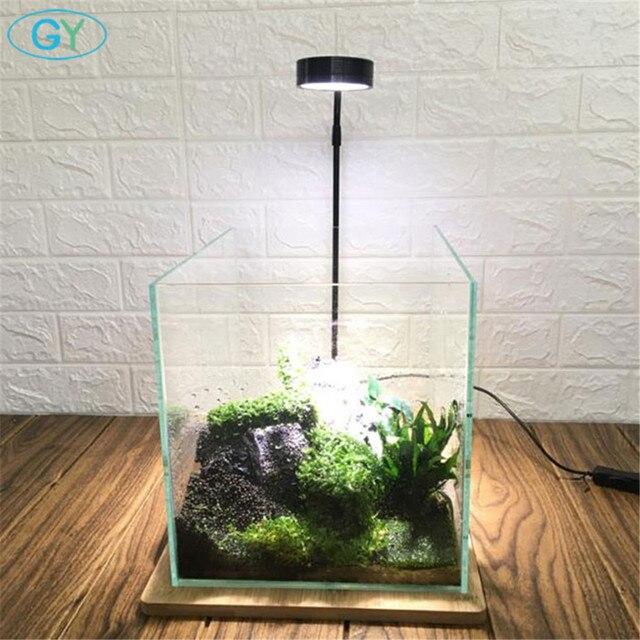 5W USB Cổ Ngỗng Led Vật Có Phong Cảnh Đèn Đen Bạc Đèn LED Bể Cá Ánh Sáng 6000K Thủy Sinh Vật Có Đèn Sinh Thái chai Đèn