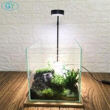 Luces led de Paisaje de plantas con cuello de cisne USB, 5W, iluminación para acuario, color negro y plateado, luces para plantas acuáticas de 6000K, luces para botellas ecológicas