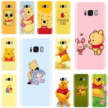 Cute cartoon Winnie the Pooh Cover Soft Silicone For Samsung Galaxy S7EDGE S6 S7 S8 S9 S10 PLUS S10LITE NOTE 8 9 Phone Case(China)