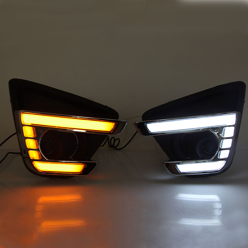 Car DRL Yellow Signal Function Waterproof 12V LED Daytime Running Light Daylight For Mazda CX-5 CX5 2013 2014 2015 2016