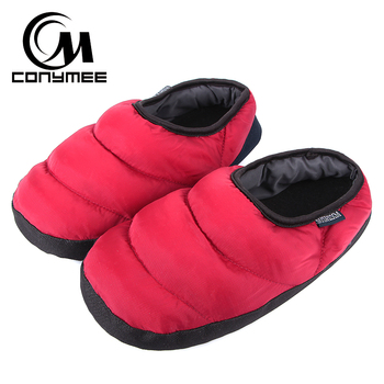 Winter Fur Slippers Woman Down-cotton Indoor Shoes Pantufa Men Women Casual Home Sneakers Warm Slipper Big Size Shoe Terlik