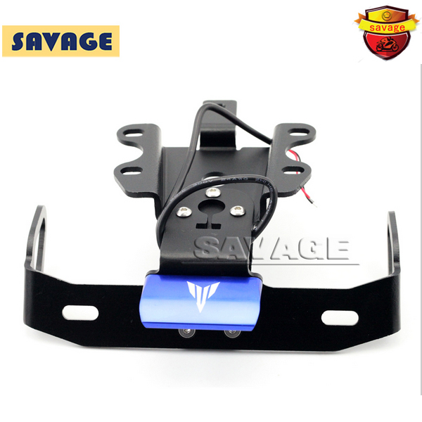 For YAMAHA MT07 MT-07 FZ-07 2014-2016 Motorcycle Fender Eliminator Registration Plate Bracket License Plate Holder LED Light BLU motorcycle tail tidy fender eliminator registration license plate holder bracket led light for ducati panigale 899 free shipping