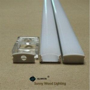 Image 3 - 10 40 компл./Лот, светодиодный алюминиевый профиль длиной 20 80 м, длиной 2 м/80 дюймов для светодиодной панели, 12 мм фотоэлемент, корпус полосы