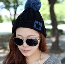 2013 Autumn and winter freeshipping lovely hat Wool knitted fashion cap Women fashion accessories
