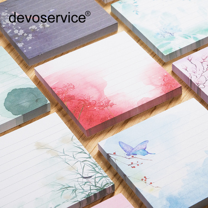 1PC Memo Pads Notes Kawaii Cute Chinese Style Paper Notepad Daliy Scrapbooking Notebook Paper Sticker Office School Stationery