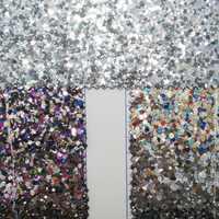 91x134 เซนติเมตรสังเคราะห์หนัง Chunky Glitter หนังผ้า DIY อุปกรณ์เสริม P1922