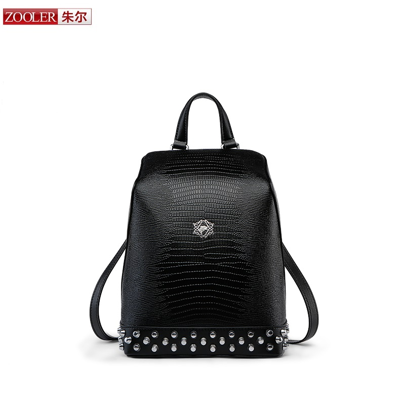NEW 2017 ZOOLER Women <font><b>real</b></font> Leather Backpack Genuine Leather European Style Fashion cow bags School Backpacks woman bag#Y100