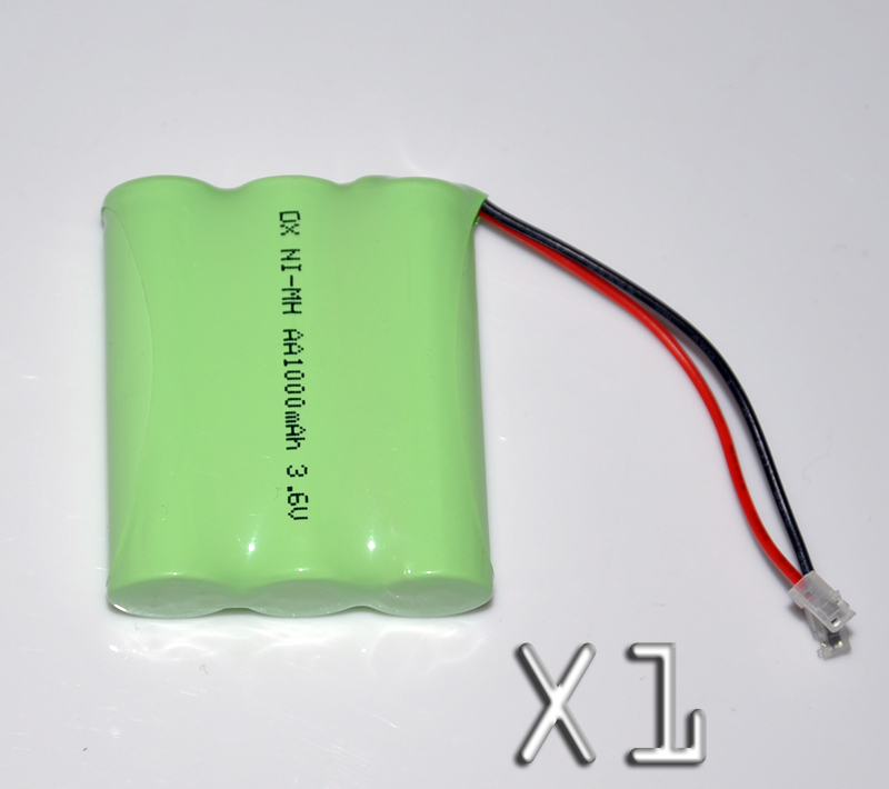 1PCS 3.6V AA 1000mah rechargeable battery pack 2A ni-mh nimh batteries NI MH cell for RC toys emergency light cordless phone A