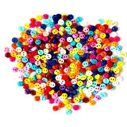 600 pçs/lote 6 milímetros Rodada Botões de Resina Mini Minúsculo Ferramentas De Costura Botão Scrapbooking Decorativa Vestuário Acessórios de Vestuário DIY