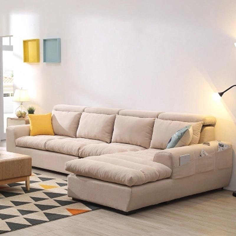 Furniture Living room corner washable minimalist sofa-in ...