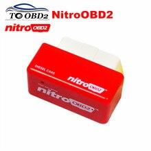 Hoge Prestaties OBD2 Ecu Chip Tuning NitroOBD2 Rode Kleur Diesel Cars Verhogen Power Motor Nitro OBD2 Diesel Gratis Verzending