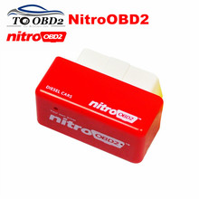 Wysoka wydajność OBD2 ECU Chip Tuning NitroOBD2 czerwony kolor Diesel samochody zwiększyć moc silnika Nitro OBD2 Diesel darmowa wysyłka