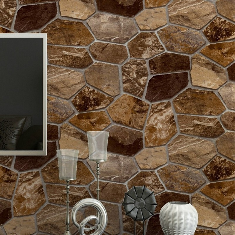 Free Shipping 3D Stereo Simulation Rock Stone Wall Culture Wallpaper bedroom Personal Cafe Bar Hotel PVC Wallpaper free shipping blueskysea 2k s60 body personal security