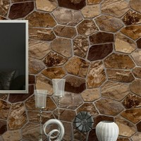 Free Shipping 3D Stereo Simulation Rock Stone Wall Culture Wallpaper bedroom Personal Cafe Bar Hotel PVC Wallpaper