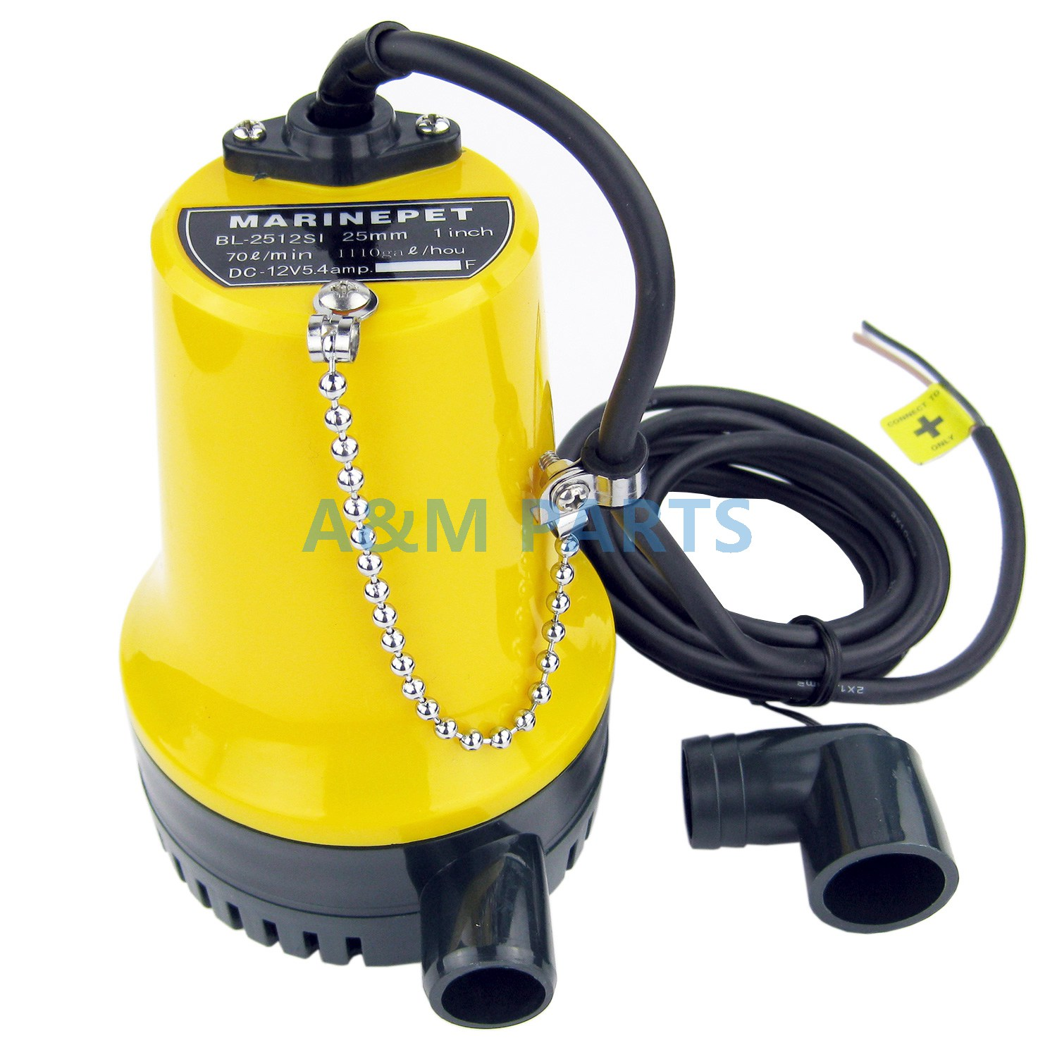 12V Submersible Bilge Water Pump Boat Marine Pond Caravan Camp 1100GPH