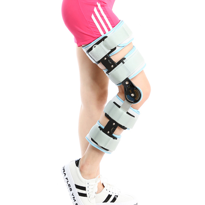 how to put on a velcro knee brace