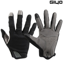 Giyo Wind Breaking Cycling Full Finger Gloves Touch Screen Anti-slip Bicycle Lyc