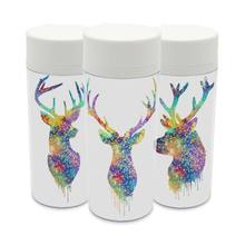 Personalisierte Tiere Moderne Ursprüngliche Aquarell Tasse BPA Freie Klare Kunststoff Isoliert Hirschkopf Nette Kinder Wasserflasche 300 ml Geschenk