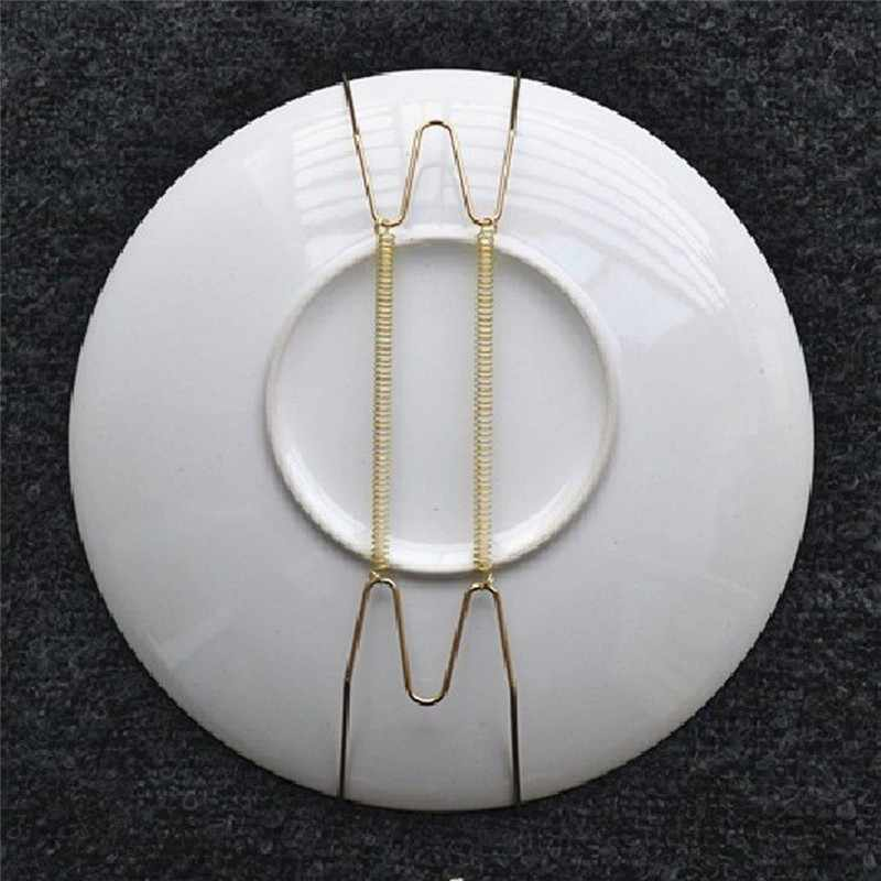 1PCS plate W type special decorative plate hook metal spring hanger for home decorative wall hanging plates wholesale