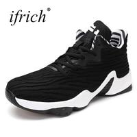 Ifrich Nieuwe Collectie Mens Basketball Sneakers Rood Zwart Gym Sneaker Mannelijke Hoge Top Basketbal Schoenen Trainers Goedkope