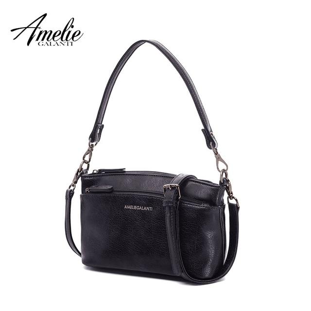AMELIE GALANTI Маленькая стильная сумка кроссбоди с двумя внешними отделениями