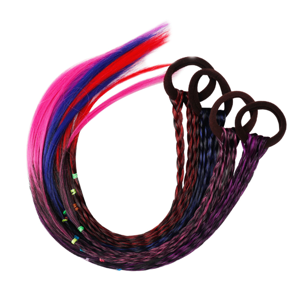 Fashion Wig Braided Elastic Rubber Band For Girls Women Solid Nylon Hair Ties Gum For Hair Ponytail Ornament Accessories