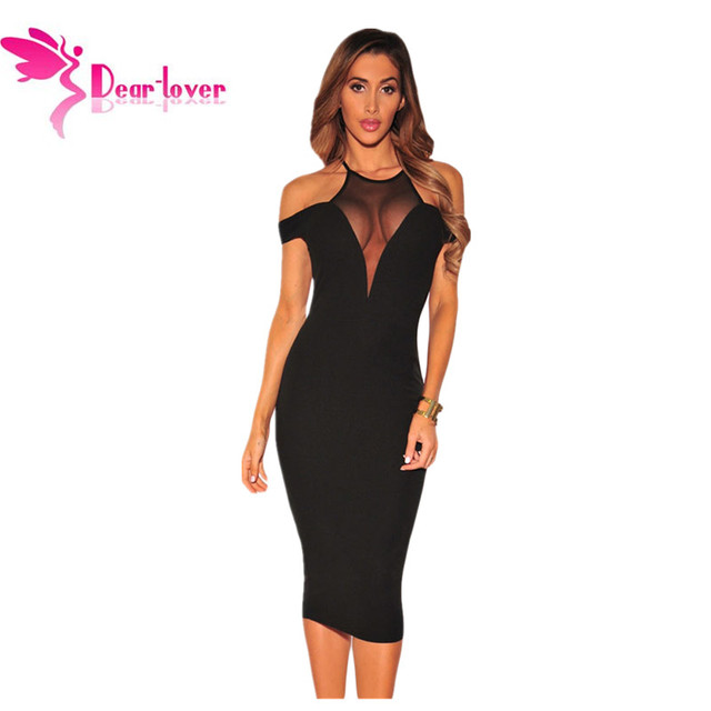 d1b8f65e85cd1 US $25.09 |Dear Lover Hot Sexy Party Bodycon Dresses Black Mesh Off  Shoulder Summer Ladies Club Midi Dress Vestidos de Festa Robes LC61241-in  Dresses ...