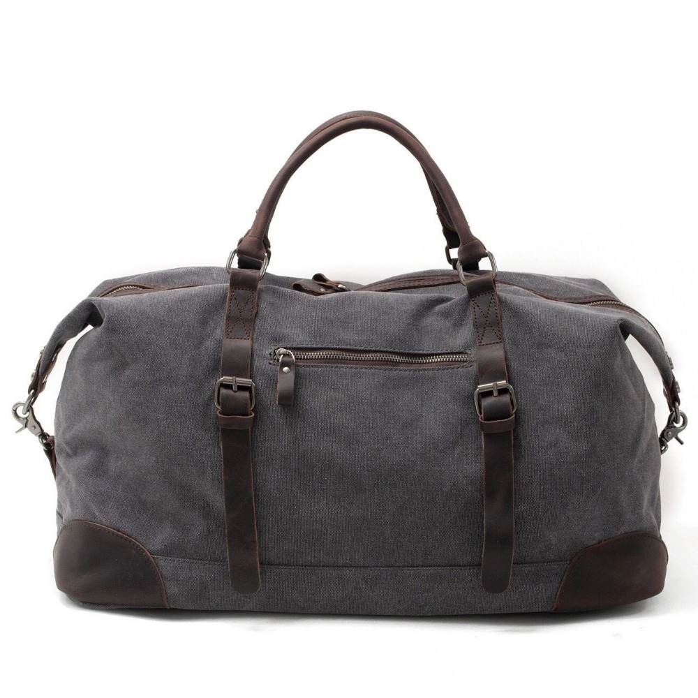 Men Travel Duffle Bags Tod-handle luggage Canvas Vintage Women bag Military Large  Capacity Oilskin. sku  32817917862 af9e402a0a713