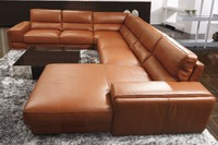 2015 High Quality Leather Sofa Living Room Sofa Furniture Sofa Set U Shape