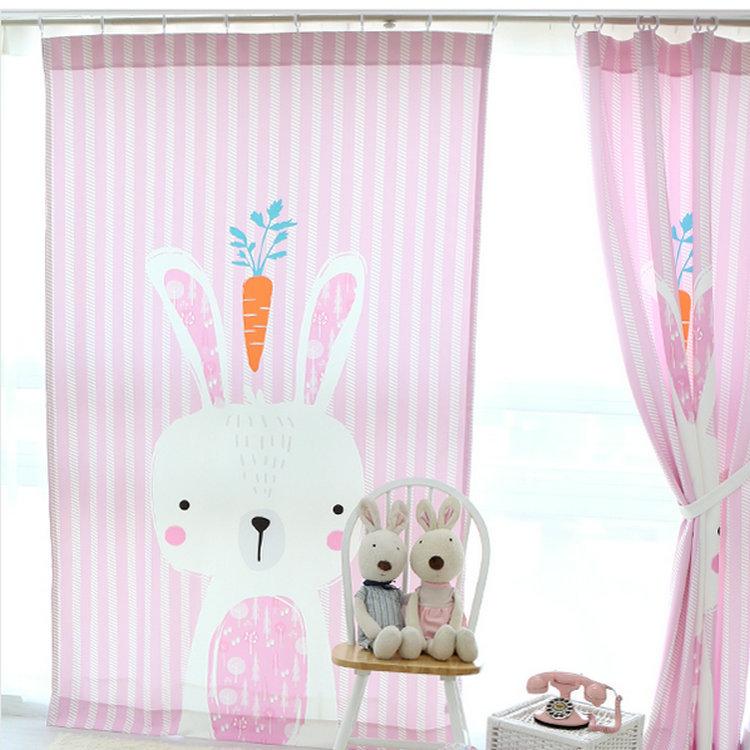 estilo coreano crianas cortinas para o quarto do beb d cartoon cortina de coelho para o