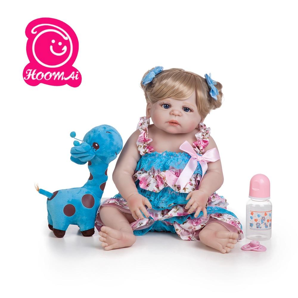 55 cm corps entier Silicone Reborn bébé fille poupée princesse réaliste Bonecas enfant lol cadeau d'anniversaire jouer maison bain jouet