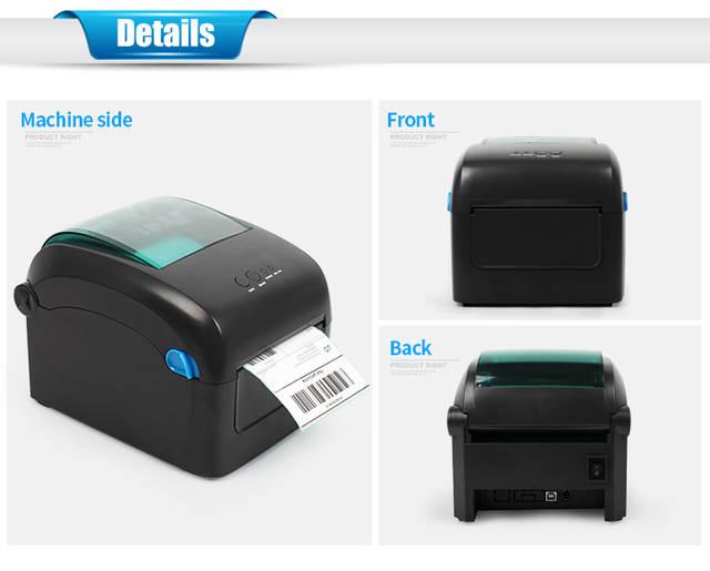 4 inch 120mm Thermal Barcode Printer Label Printer Shipping Lable Printer  100*100 UPS UPSPS Label Printer