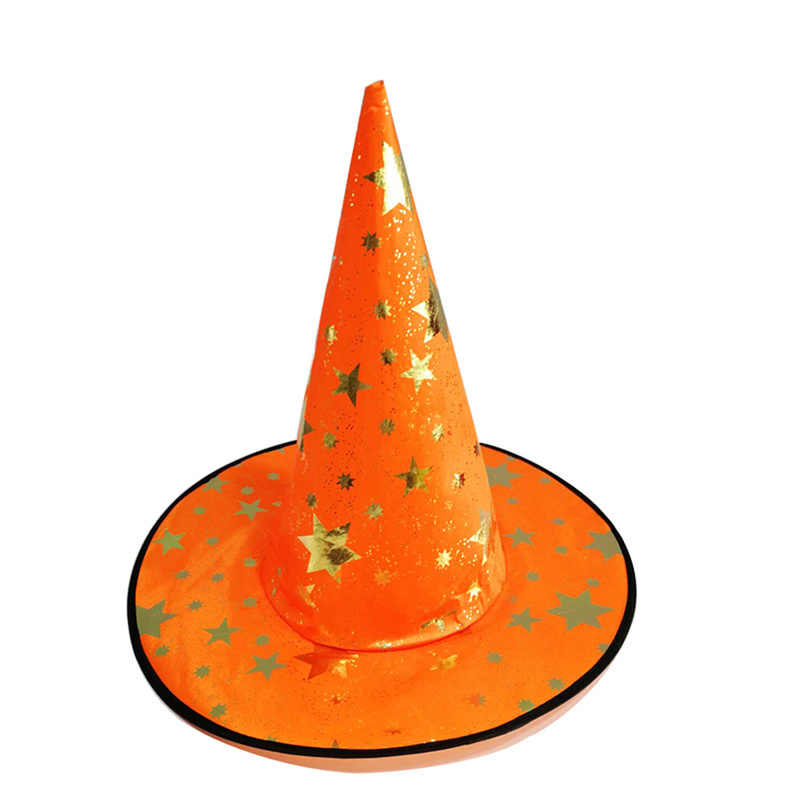 2019 Baru Anak-anak Dewasa Topi Penyihir Menunjuk Topi untuk Cosplay Bintang Sihir Itu Halloween Kostum Aksesori Hitam Halloween Pesta Topi Alat Peraga