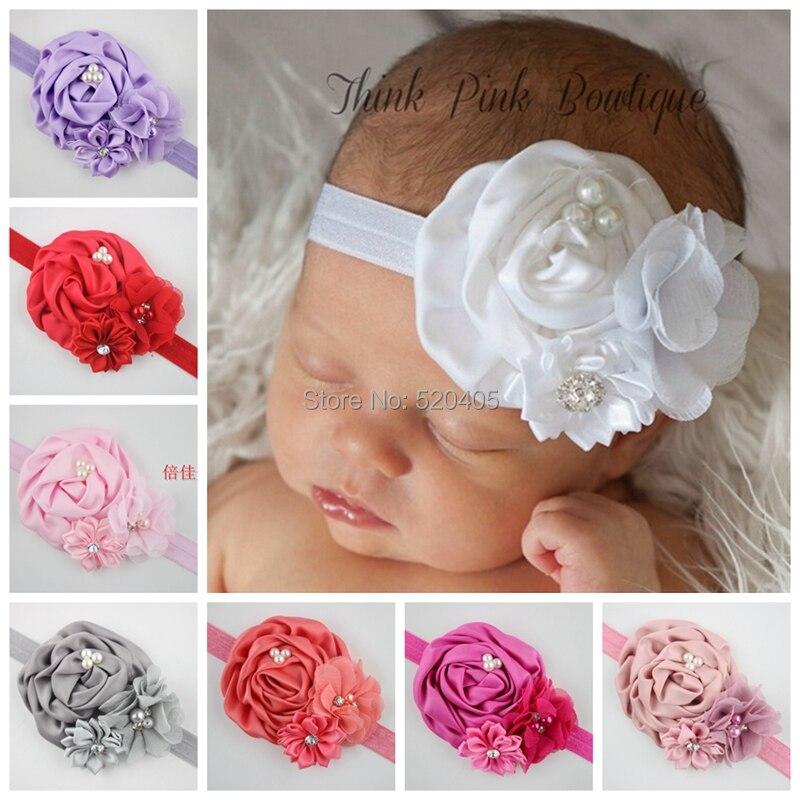 "Wholesale12PCS 7/""Mini Bowknot Baby Girl Headband Hair Band Headwear Accessories"