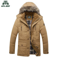 AFS JEEP Wholesale Men S Original Spring Autumn Long Motorcycle Jacket Good Quality Mid Age Men