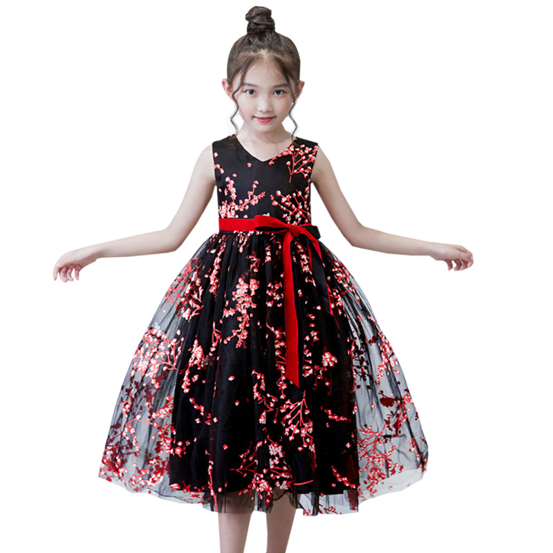 High Quality Printing Girls First Communion Dress For Girls Flower Dress Weddings Prom Clothing Kids Children Baby Costume