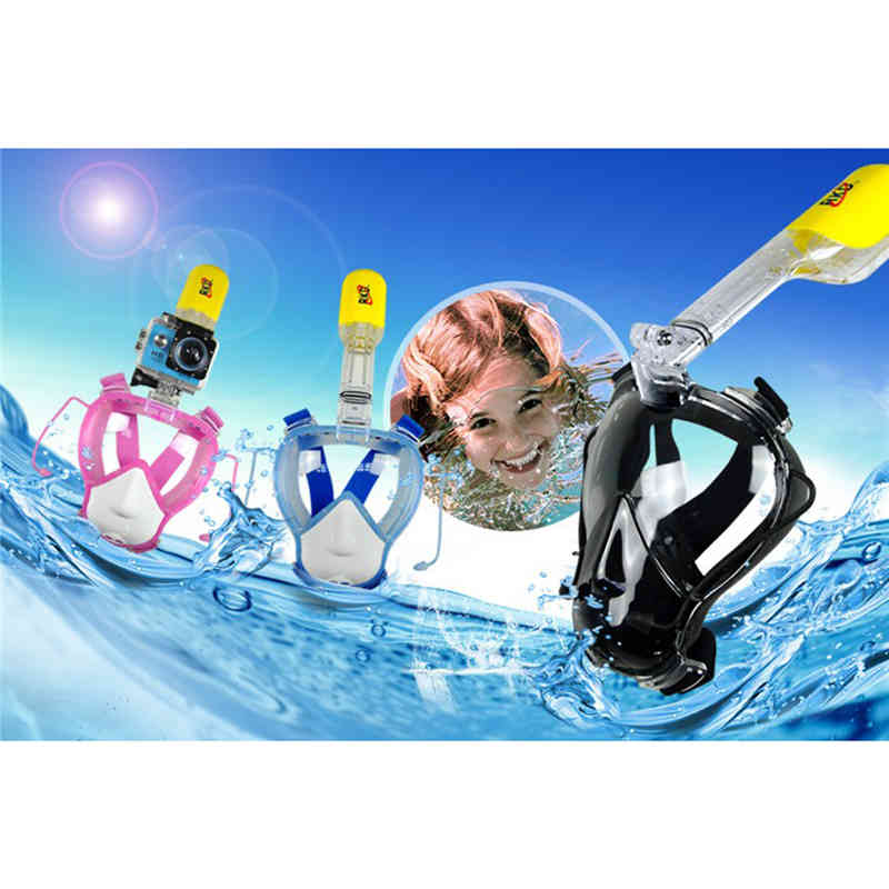 RKD Diving Masks Scuba Diving Mask Full Face For Kids Swimming Snorkel Scuba Underwater Children Swimming Diving Mask Snorkeling цены