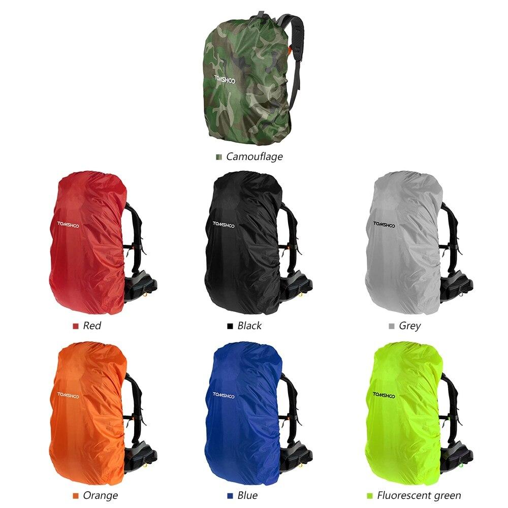 TOMSHOO 40L-50L Waterproof Rain Cover Dustproof Backpack Cover Portable Rucksack Rain Dust Cover Bag For Camping Hiking Travel