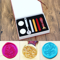 Wedding Invitation Wax Sealing Vintage Personalized Seal Stamp Wax Kit Stamps Wax Seals 26 Letters Wax