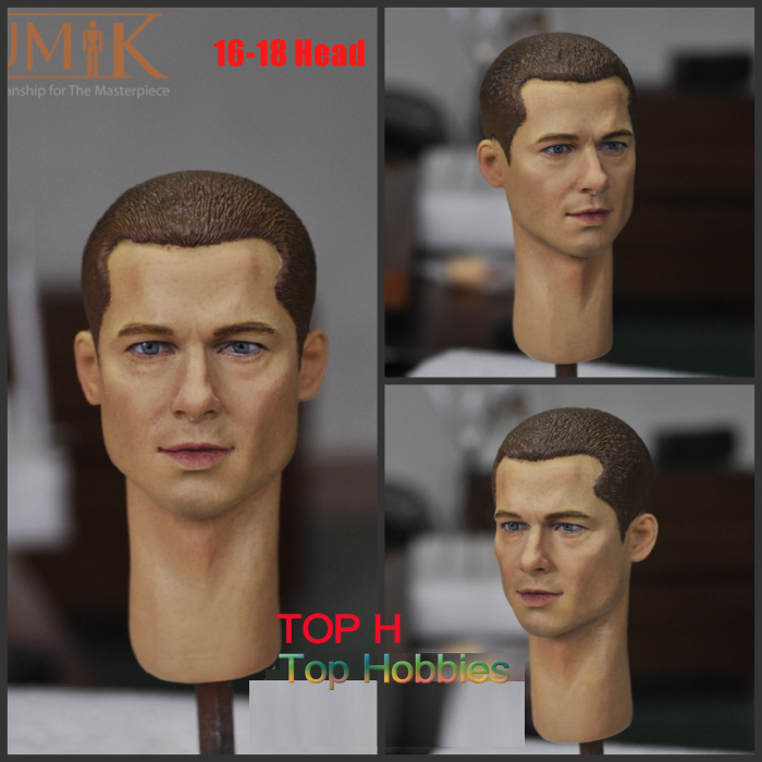 KUMIK 16-18 1/6 Scale Male Headplay Man Head Sculpt Fit 12 Hot Toys Phicen Action Figure dstoys d 005 1 6 scale female head sculpt beauty girl headplay long curly hair for 12 ht phicen action figure