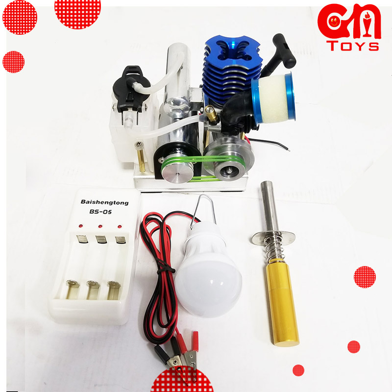 Motor de combustible generador de etanol pequeño motor de combustión interna modelo de aceite móvil juguete educativo mini Motor-in Kits de construcción de maquetas from Juguetes y pasatiempos on AliExpress - 11.11_Double 11_Singles' Day 1