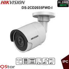 Hikvision English 3MP H.265+ Ultra-Low Light outdoor IP Camera DS-2CD2035FWD-I Bullet Security Camera POE Replace DS-2CD2035-I(China)