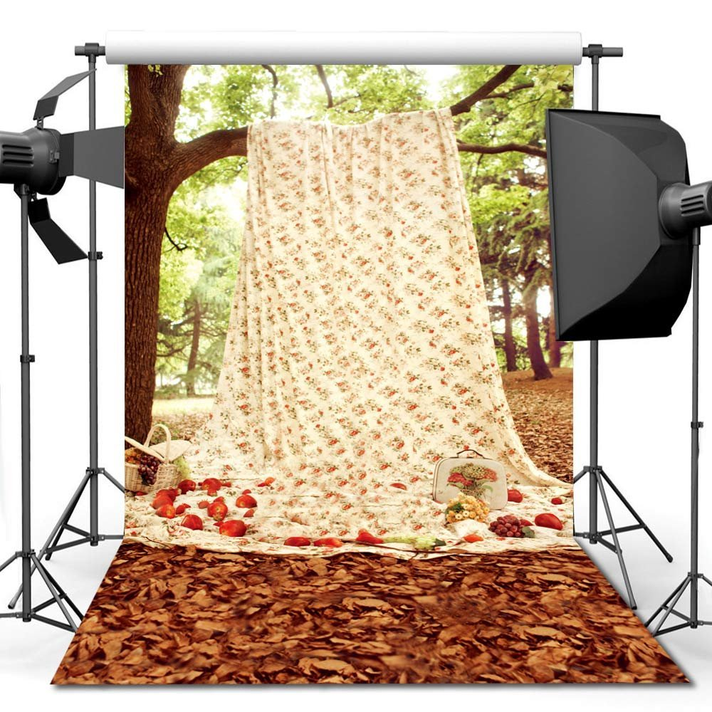 No need Stand Kit 150X210CM Photography studio Green Screen Chroma key Background Polyester Backdrop for Photo Studio Tree YU001 2x5meter photography studio screen chroma key background backdrop non woven black green white photo background for photo studio