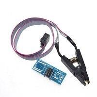 Soic8 sop8 clipe de teste para programação em circuito para eeprom 93cxx/25cxx/24cxx no programador de usb tl866 ezp2010 rt809h ch341