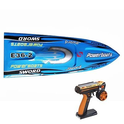 E36 RTR Sword Fiber Glass Racing Speed RC Boat W/1750kv Brushless Motor/120A ESC/Servo/Remote Control Boat Blue e22 rtr tiger teeth fiber glass racing speed boat w 2550kv brushless motor 90a esc remote control catamaran rc boat blue