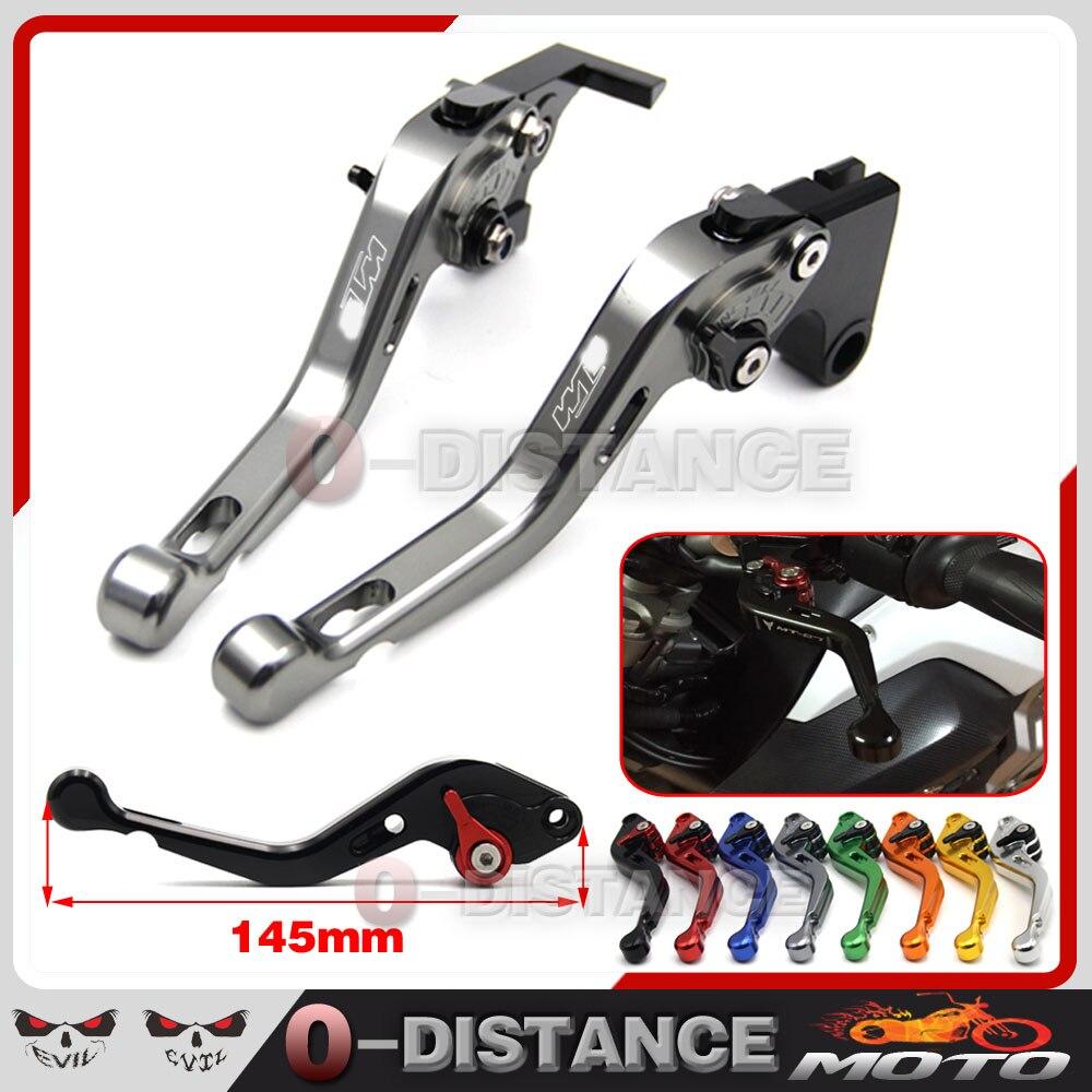 ФОТО Motorcycle Accessories CNC aluminum Short Clutch Brake Levers For KTM RC8/R 1290 Super Duke R/GT 990 SuperDuke 690 Duke