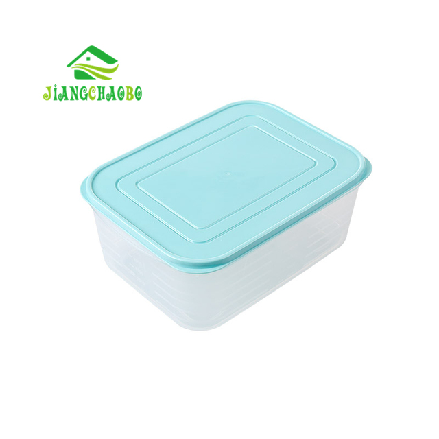 JiangChaoBo Kitchen With Lid Transparent Plastic Storage Box Sealed  Refrigerated Box Refrigerator Rectangular Food Storage Box