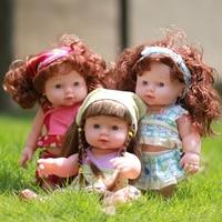 Infantil Moda Bebê Recém-nascido Lifelike Boneca Reborn Vinil Silicone Macio Falando Boneca de Brinquedo Do Bebê Crianças Educacionais Presentes