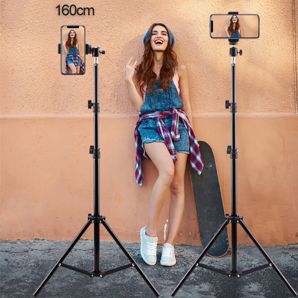 LED Selfie Ring Light Studio Support Floor Bracket Mobile Phone Holder Photography Tripod Portable 3 Style Make Up Tools