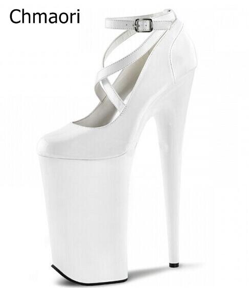 15 Bracelet 4 15 Super forme 9 Mode Parti Blanc Femmes Croix Cm Talon Talons Heel Cm 20 20 Chaussures Hauts Boucle Noir Solide De Cm Heel À Heel 5 Pompes Rouge Plate 7bvgyf6Y